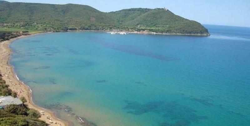 Vista Panoramica del tratto di mare compreso tra Cecina Mare e la località Gorette